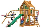 Gorilla Playsets Chateau Treehouse Swing Set with Amber Posts