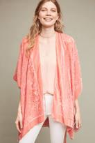 Anthropologie Amelie Velvet Burnout Kimono