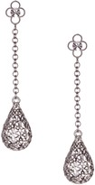 Dani G Jewelry Sterling Silver Diamond Cut Teardrop Dangle Earrings