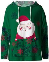 Green Santa Claus Hoodie - Women & Plus