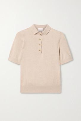 HANDVAERK Pima Cotton And Cashmere-blend Polo Shirt - Beige