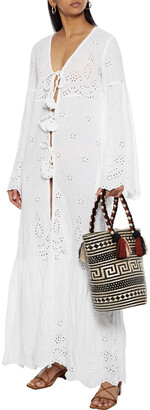 Anjuna Tasseled Broderie Anglaise Linen And Cotton-blend Coverup