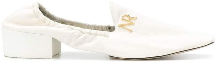 Nina Ricci logo plaque loafers