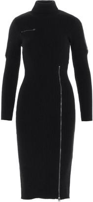 Tom Ford Zip Details Ribbed Dress