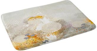"Deny Designs Iveta Abolina White Velvet Memory Foam Bath Mat, 17""x24"""
