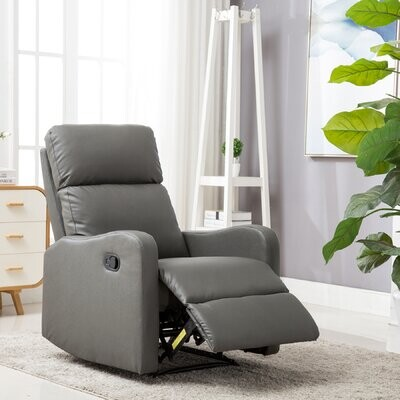 """Thumbnail for your product : Winston Porter Adahir 29.5"""" Wide Faux Leather Manual Rocker Standard Recliner"""