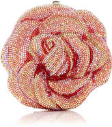 Judith Leiber Couture Apricot Rose Clutch