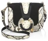 See by Chloe Hana Python Leather Shoulder Bag