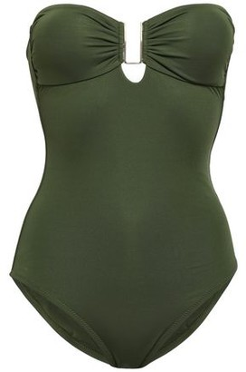 Melissa Odabash Argentina Strapless Cutout Appliqued Textured Swimsuit