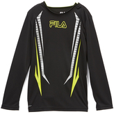 Fila Anthracite Poly Long-Sleeve Tee - Boys