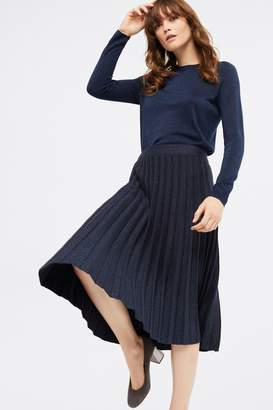 White Stuff Womens Blue Stem Shimmer Skirt - Blue