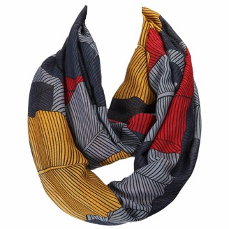 Gil Ssc XXL loop scarf tube scarf round scarf neck scarf selection autumn winter 2020-2021 (leaves grey mustard red).