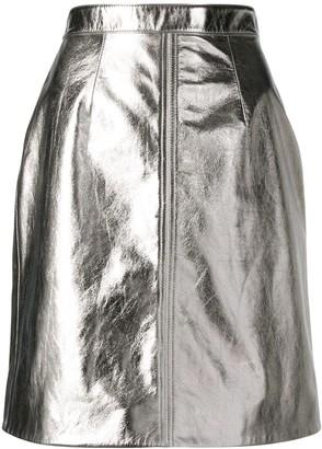 ALEXACHUNG Alexa Chung metallic mini skirt