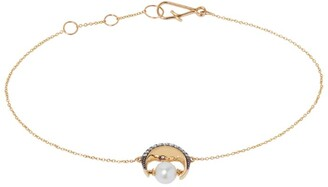 Annoushka Yellow Gold, Diamond and Pearl Mythology Bracelet