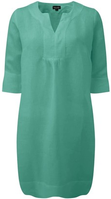 Nologo Chic Life Style Easy Linen Tunic Dress- Sweet Sage
