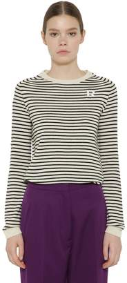 Rochas Striped Cashmere Knit Sweater
