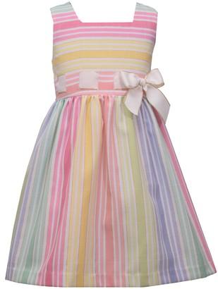 Bonnie Jean Girls 4-6x Metallic Linen-Blend Dress
