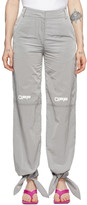 Off-White Off White Grey Nylon Bow Lounge Pants