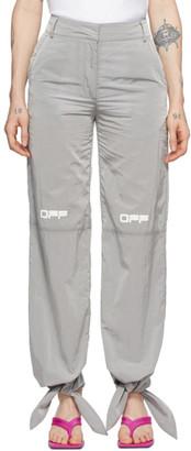 Off-White Grey Nylon Bow Lounge Pants