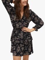 Thumbnail for your product : MANGO Floral Wrap V-Neck Mini Dress, Sand