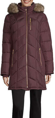 Liz Claiborne Hooded Heavyweight Puffer Jacket-Tall