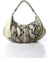 Cole Haan Multi-Color Snake Print Single Strap Embossed Leather Shoulder Handbag