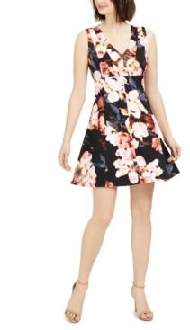 Taylor Petite Floral Fit & Flare Dress
