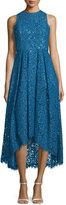Shoshanna Sleeveless Lace High-Low Dress