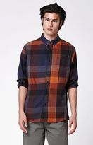Ezekiel Krow Plaid Flannel Long Sleeve Button Up Shirt