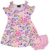 Sweet & Soft Pink Hearts Cutout Dress & Bloomer Set - Infant