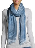 Eileen Fisher Hand-Dyed Modal/Silk Ombre Scarf, Denim