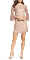 Vince Camuto Petite Women's Lace Bell Sleeve Dress