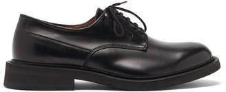 Bottega Veneta Panelled Leather Derby Shoes - Black