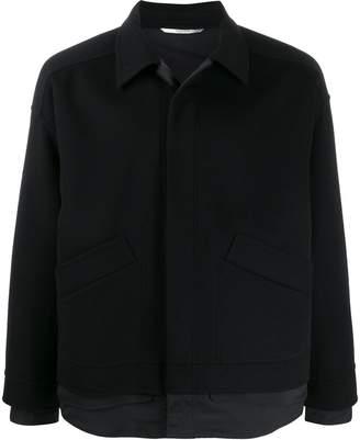 Valentino layered effect shirt jacket