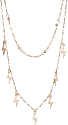 Area Stars Double Layer Lightning Bolt Necklace