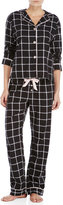 PJ Salvage Two-Piece Check Pajama Set