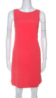Zadig And Voltaire Zadig & Voltaire Deluxe Red Crepe Open Back Raff Shift Dress XS