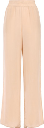 Sally LaPointe Gathered Woven Wide-leg Pants