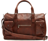 Brunello Cucinelli Buckle-handle tarnished-leather holdall