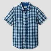 Boys' Button Down Shirt Cat & Jack - Blue Cheer