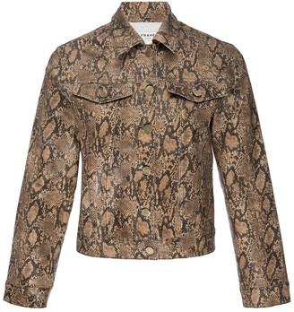 Frame Le Vintage Coated Snakeskin Print Jacket