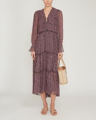 Jonathan Simkhai Eliza V-Neckline Midi Dress
