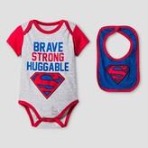 Superman Baby Boys' Bodysuit Sets Gray - DC Comics®;