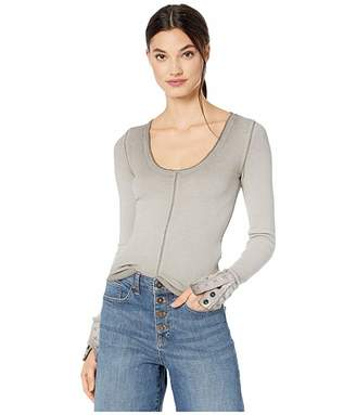 Free People Dark Side Thermal (Grey) Women's Clothing
