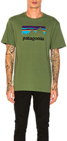 Patagonia Shop Sticker Tee in Green. - size M (also in S,XL)