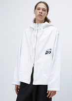 Raf Simons white hooded blouson with print boots