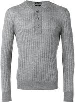 Tom Ford superfine long sleeved henley - men - Silk/Cashmere - 48