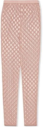Gucci GG embroidered tulle leggings