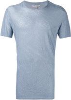 John Varvatos plain T-shirt - men - Linen/Flax - M