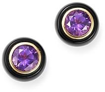 Bloomingdale's Amethyst & Black Onyx Bezel Stud Earrings in 14K Yellow Gold - 100% Exclusive